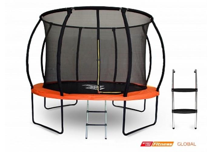 Батут GLOBAL 10 футов (305 см) с внутренней сеткой, держателями и лестницей