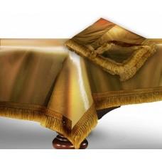 """Чехол для бильярдного стола """"Элегант""""9 футов / золото"""