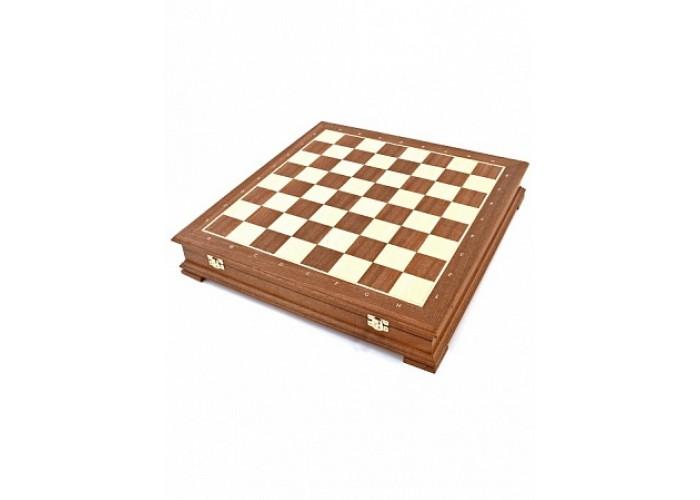 Шахматный ларец «Стаунтон» Махагон 40 мм