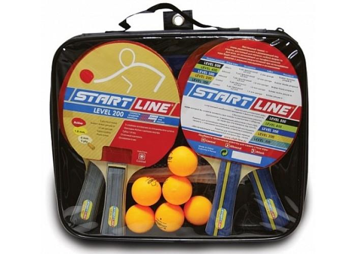 Набор START LINE: 4 ракетки, 6 мячей
